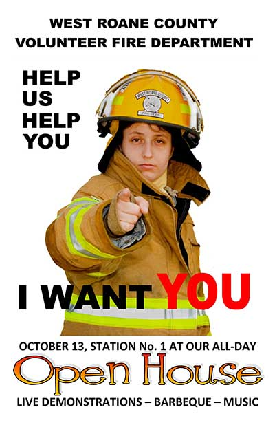 poster for WRCVFD Open House